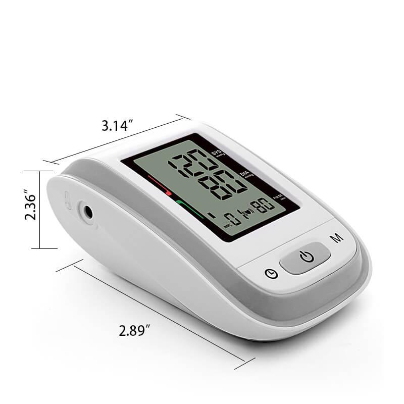wrist blood pressure monitor BPA size