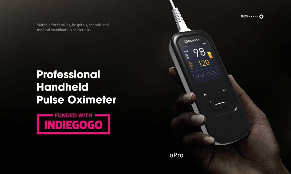 We Launched a Crowdfunding Project for oPro in Indiegogo Website